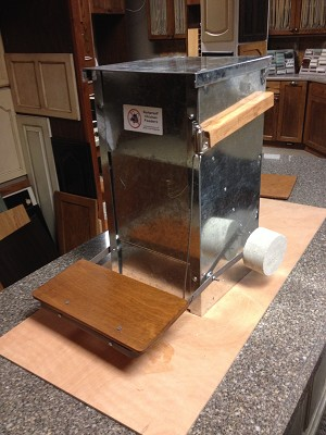 Duck treadle step extender for the Small Rat Proof Chicken Feeder